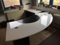 01 - Folierung Schreibtisch und Schrank
