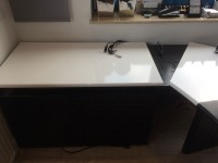 03 - Folierung Schreibtisch und Schrank