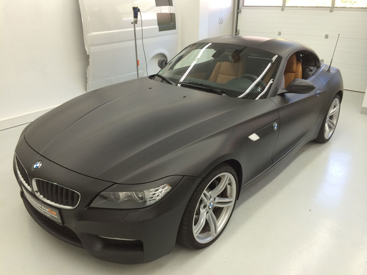 bmw z4 schwarz matt verklebeprofi j rgen eidt aus. Black Bedroom Furniture Sets. Home Design Ideas