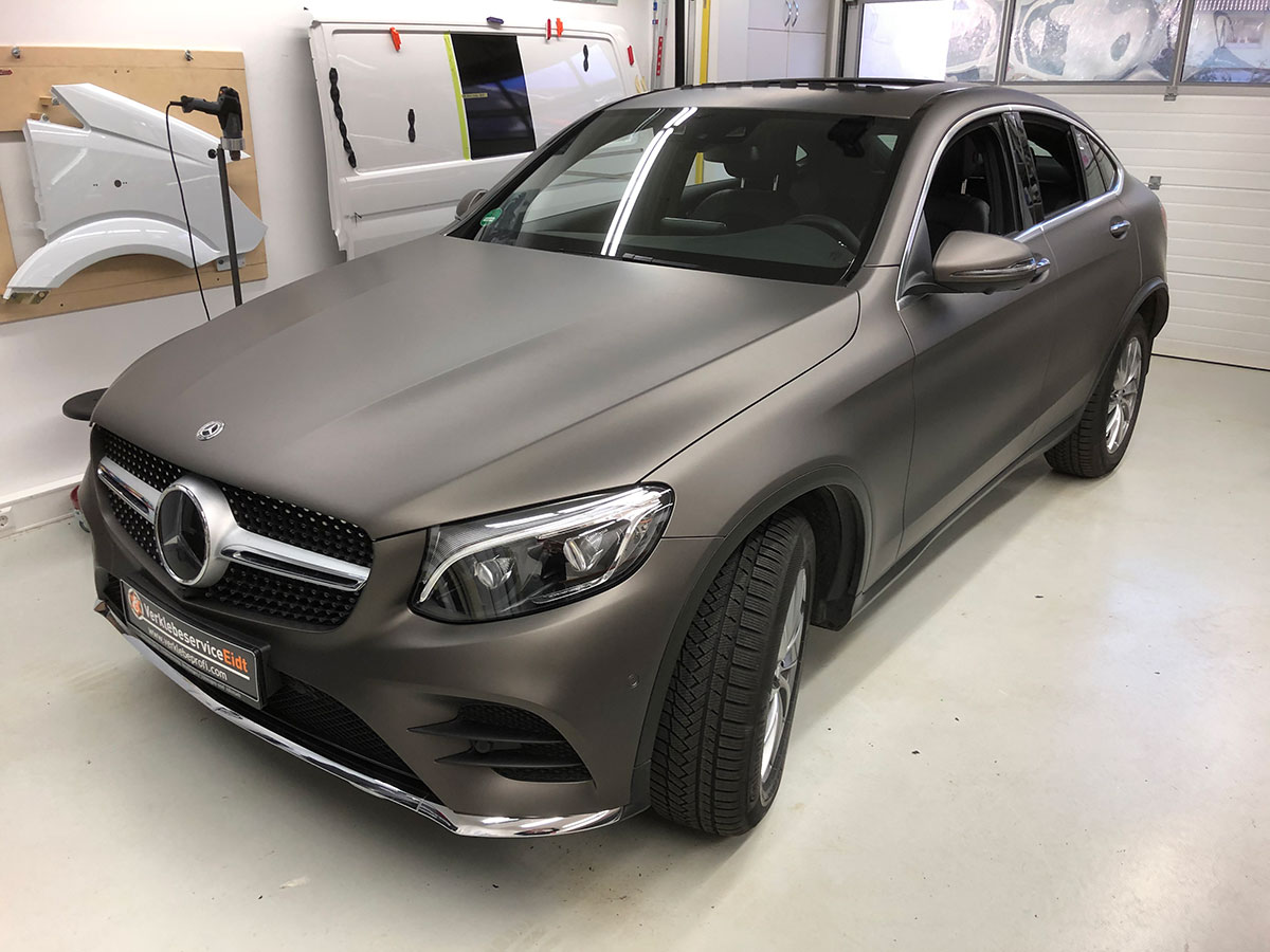 Mercedes GLC Coupé Matte Charcoal Metallic